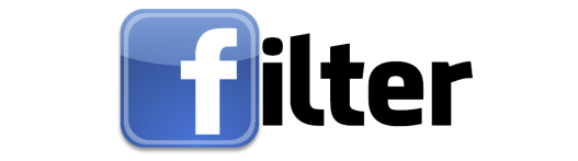 facebook letters filter icon