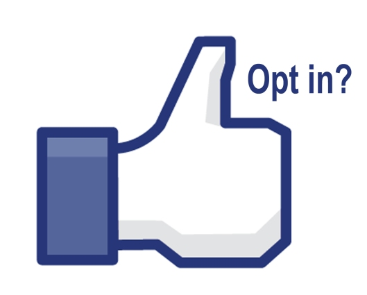 facebook like opt in thumbs up blue