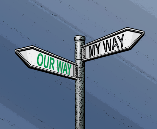 street sign direction way illustration