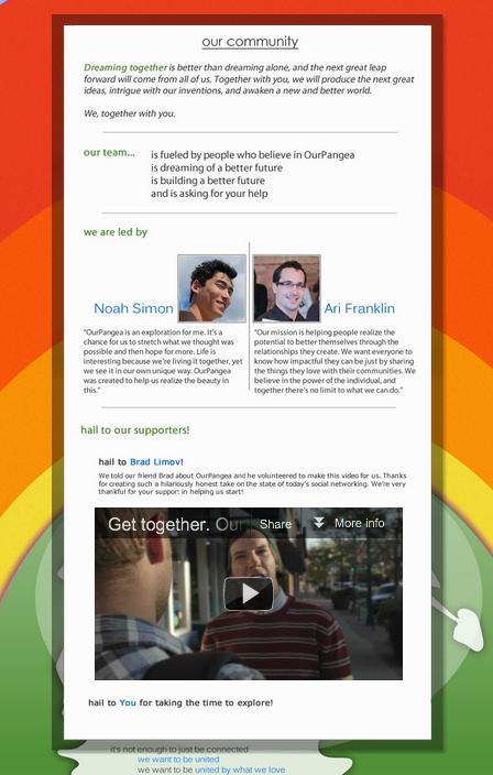 ourpangea website community rainbow network