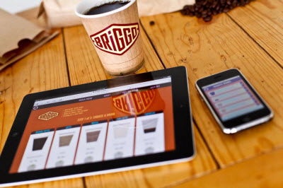 briggo coffee app ipad technology