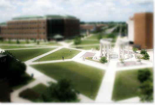 university campus quad student spotlight
