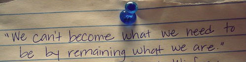 blue thumbtack pin paper motivational quote