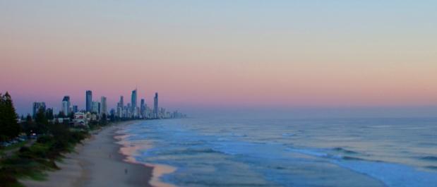 city coast sunset panorama ourpangea