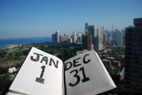 open book dates year overlook city day