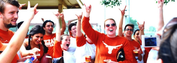 Longhorns Texas students spirit excitement hook em