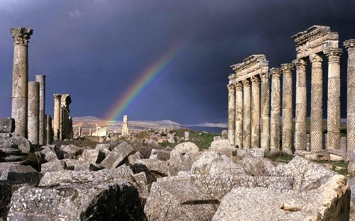 greek ruins vista rainbow pretty