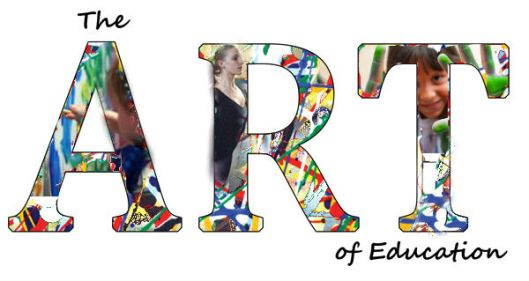 art education collage title
