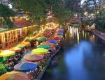 venice san antonio canal side restaurant dining colorful