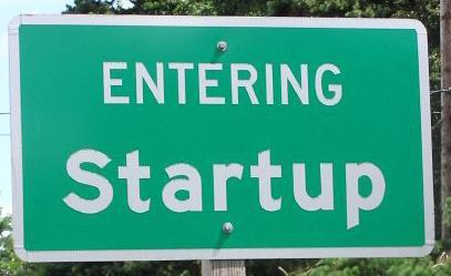 detroit roadsign green startup label enter