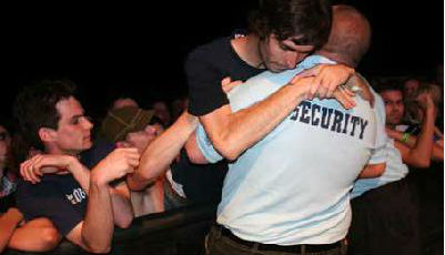 music festival security hug